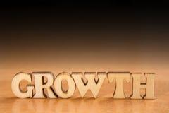 Palabra GROWTH Imagen de archivo