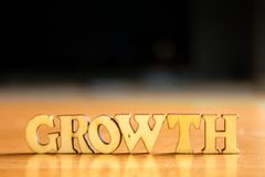 Palabra GROWTH Fotos de archivo libres de regalías