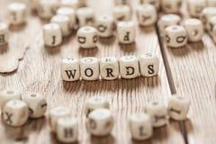 Palabra hecha con la letra de madera del bloque Imagen de archivo