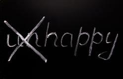 Palabra infeliz Imagen de archivo libre de regalías