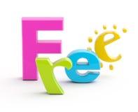 Palabra libre. Foto de archivo libre de regalías
