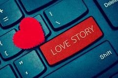 Palabra LOVE STORY Fotos de archivo libres de regalías