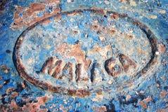 Palabra Málaga, España fotografía de archivo libre de regalías