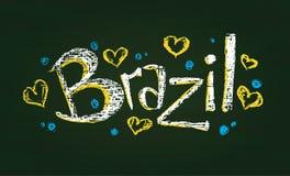 Palabra marcada con tiza el Brasil Imagen de archivo libre de regalías