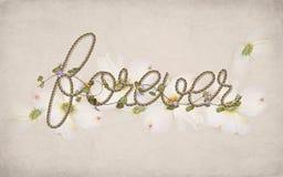 Palabra para siempre en diseño de la cuerda Fotos de archivo libres de regalías