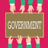 Palabra que escribe al gobierno del texto Concepto del negocio para el grupo de mostrar con autoridad para gobernar la compañía d stock de ilustración
