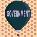 Palabra que escribe al gobierno del texto Concepto del negocio para el grupo de mostrar con autoridad para gobernar la compañía d libre illustration