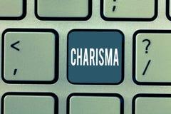 Palabra que escribe carisma del texto Concepto del negocio para la atracción que obliga o encanto que inspiran la dedicación en o libre illustration