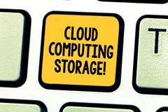 Palabra que escribe el almacenamiento de Cloud Computing del texto El concepto del negocio para los datos digitales se almacena e imagen de archivo