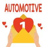 Palabra que escribe el texto automotriz Concepto del negocio para automotor relacionado con los automóviles de los coches del mot stock de ilustración