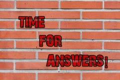 Palabra que escribe el tiempo del texto para las respuestas Concepto del negocio para que momento correcto dé la solución a la pa libre illustration