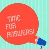 Palabra que escribe el tiempo del texto para las respuestas Concepto del negocio para que momento correcto dé la solución a la ro stock de ilustración