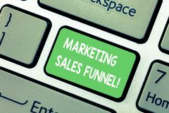 Palabra que escribe embudo de las ventas del márketing del texto Concepto del negocio para la representación visual del teclado d foto de archivo