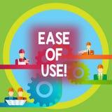Palabra que escribe facilidad de empleo del texto Concepto del negocio para que fácil fácil de usar actúe la tecnología simple pa stock de ilustración