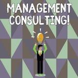 Palabra que escribe la consultoría de gestión del texto Concepto del negocio para los consejos sobre analysisaging y la mejora  ilustración del vector