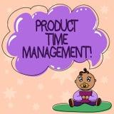Palabra que escribe a la gestión de tiempo del producto del texto Concepto del negocio por tiempo de la organización, de la plani libre illustration