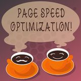 Palabra que escribe la optimización de la velocidad de la página del texto Concepto del negocio para Improve la velocidad del car ilustración del vector