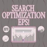 Palabra que escribe la optimización EPS de la búsqueda del texto Concepto del negocio para el proceso que afecta a la visibilidad libre illustration