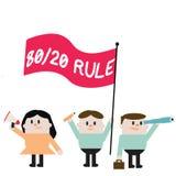Palabra que escribe la regla 20 del texto 80 Concepto del negocio para el principio de Pareto efectos del 80 por ciento venidos a stock de ilustración