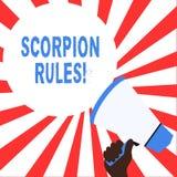 Palabra que escribe reglas del escorpi?n del texto Concepto del negocio para la novela adulta joven Dystopian de Erin Bow Prisone libre illustration