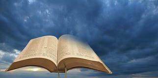 Palabra santa de las nubes de tormenta de dios Fotografía de archivo