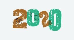 2020 palabra sellada concepto Art Illustration Fotografía de archivo