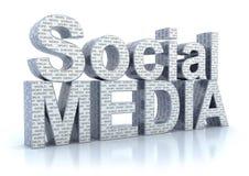 Palabra social de los media stock de ilustración