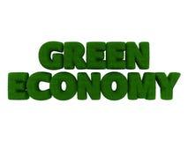 Palabra verde de la hierba de la economía Imagenes de archivo