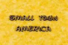 Palabra vivificante rural de la tipografía de América los E.E.U.U. de la pequeña ciudad fotos de archivo libres de regalías