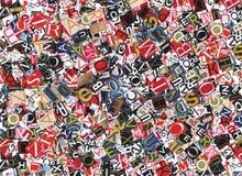 Palabras Imagen de archivo libre de regalías