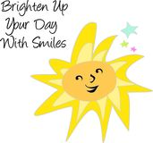 Palabras asoleadas sonrientes Fotografía de archivo libre de regalías