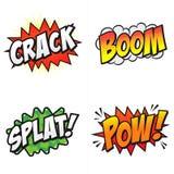 ¡Palabras cómicas de la acción! Imagenes de archivo