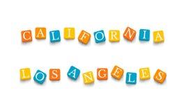 Palabras California Los Ángeles Imágenes de archivo libres de regalías