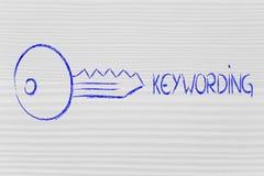 Palabras claves, búsquedas y Internet Imágenes de archivo libres de regalías