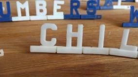 Palabras con las viejas letras almacen de video