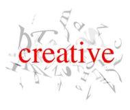 Palabras creativas Foto de archivo
