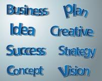 Palabras creativas del negocio fijadas Imagen de archivo libre de regalías