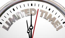 Palabras de la cuenta descendiente del plazo del reloj de tiempo limitado stock de ilustración
