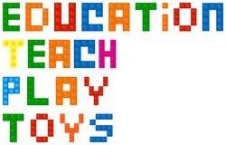 Palabras de la educación de las unidades de creación stock de ilustración