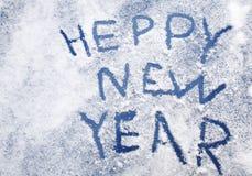 Palabras de la enhorabuena en el Año Nuevo Imagenes de archivo
