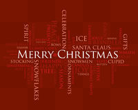Palabras de la Feliz Navidad Fotos de archivo libres de regalías
