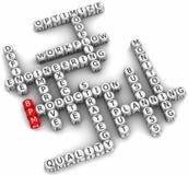 Palabras de la gestión del proceso del asunto Fotografía de archivo libre de regalías