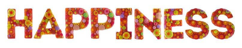 Palabras de la plastilina Foto de archivo libre de regalías