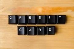 Palabras de la tarjeta de crédito Fotografía de archivo