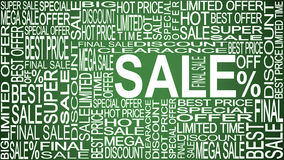 Palabras de la venta Ventas promocionales Almacene el concepto de la venta ilustración del vector