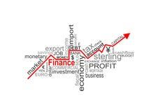 Palabras de las finanzas ilustración del vector
