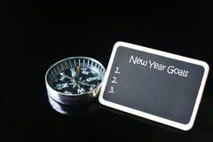 Palabras de las metas del Año Nuevo Fotos de archivo libres de regalías