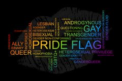 Palabras de LGBT en formato del vector libre illustration