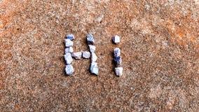 Palabras de piedra Fotografía de archivo libre de regalías