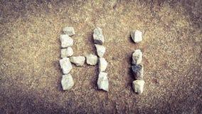 Palabras de piedra Imagenes de archivo